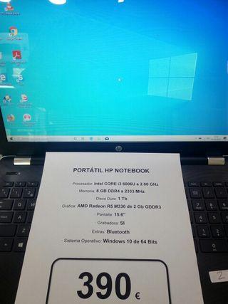 Portátil HP i3 6 Generacion azul