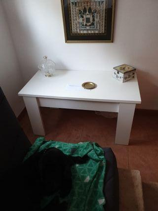 mesa centro blanca abatible