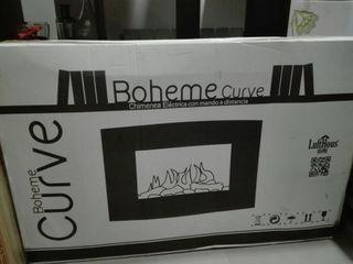 Se vende chimenea eléctrica Boheme curve.