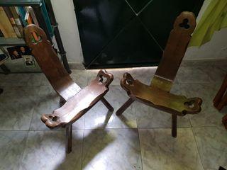 Sillas madera castellana