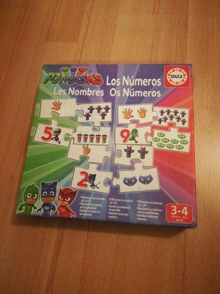 Puzzle Pjmasks. Puzzle números desde 3 años