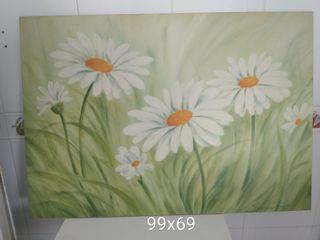 cuadro grande flores