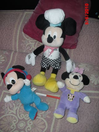 3 PELUCHES :MINNIE AND MICKY MOUSE X 5€TODOS