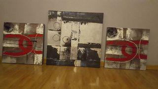 conjunto cuadros contemporaneos