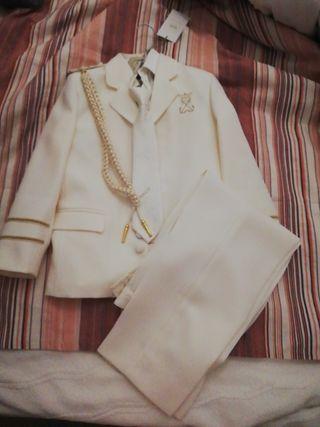 traje de comunión de niño completo! talla 9
