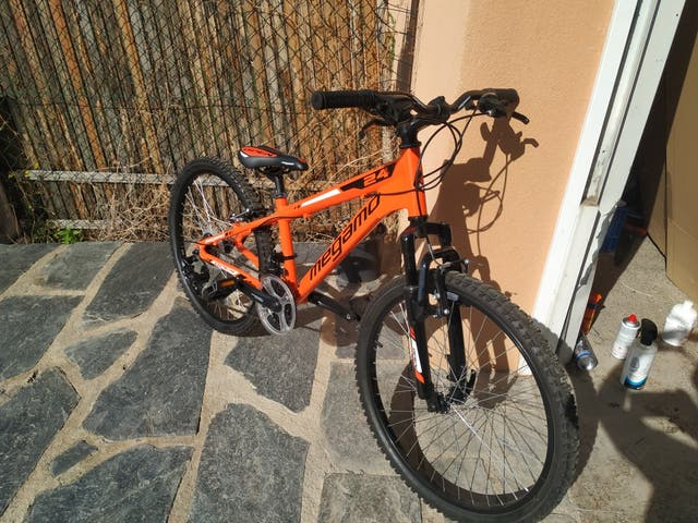 venc bici megamo open junior boy naranja 24""