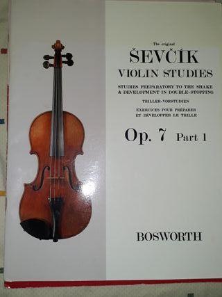 SEVICK VIOLIN STUDIES Op. 7 Part 1