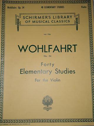 WOHLFAHRT Op. 54 Elementary studies for violin