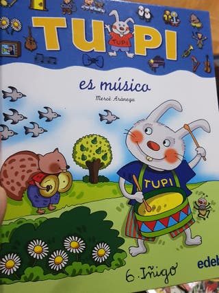 Tupi es musico, libro con pictogramas, edebé
