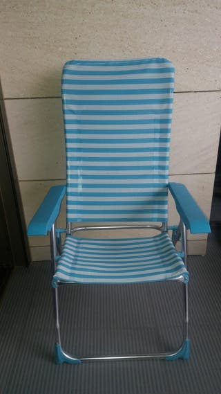 3 sillas para playa, balcón o jardin