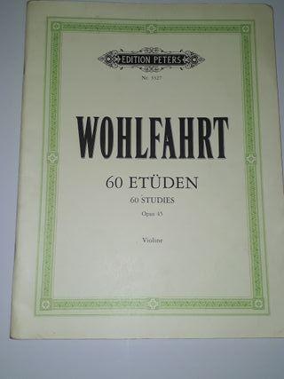 WOHLFAHRT 60 ETÜDEN 60 STUDIES, OPUS 45, VIOLINE