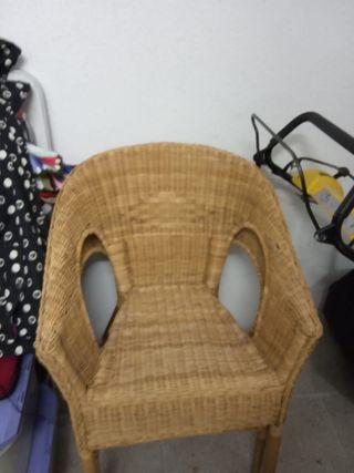 sillas mimbre modernas retro