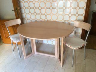 Mesa de cocina plegable y sillas