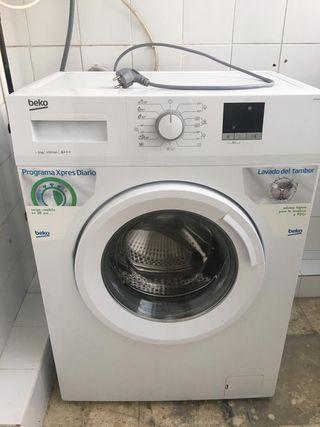 conjunto lavadora y nevera