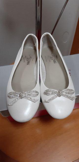zapato piel comunión niña