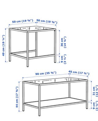 Mesa de centro IKEA VITTSJO
