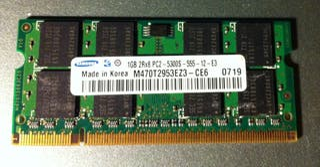 Memoria RAM DDR2 para portátil (SO-DIMM) de 1GB