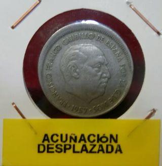 moneda con error acuñación desplazada
