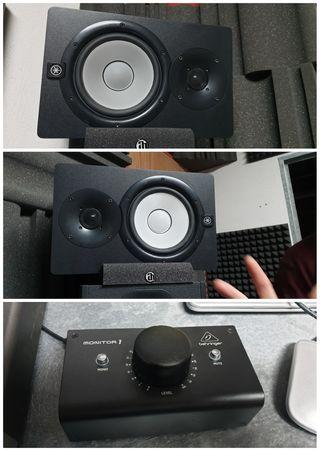 monitores yamaha hs7 + control monitoring