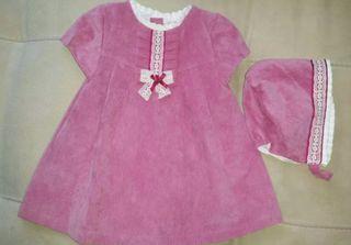 vestido y capota 6-9 meses