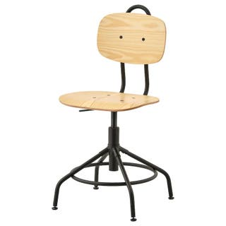Silla de trabajo escritorio de madera pino