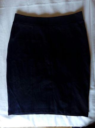 falda tubo negra