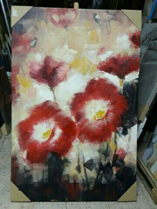 cuadro flor 150x100