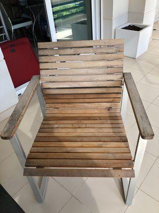 4 sillas madera para exterior