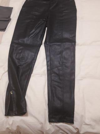 pantalon imitacion cuero