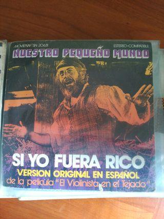 Vinilo EP (single) Si yo fuera rico / Nuestro ...