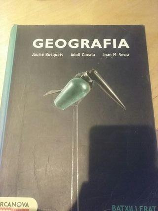 Libro Geografía Bachillerato (Barcanova)