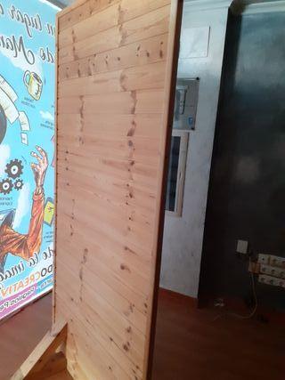 2 Mamparas divisorias en madera