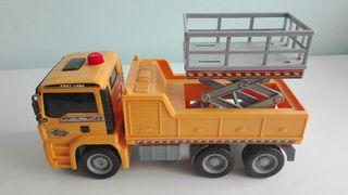 Camión de plástico para niños.
