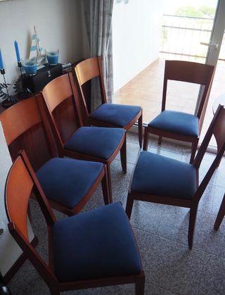 6 sillas. Madera buena y comodisimas