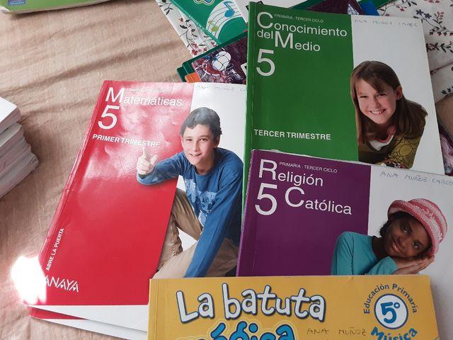 Libros 5* primaria.