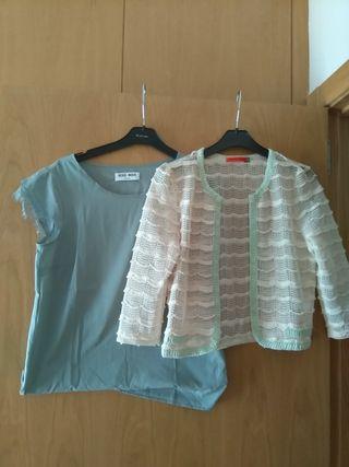 Blusita + chaqueta encajes