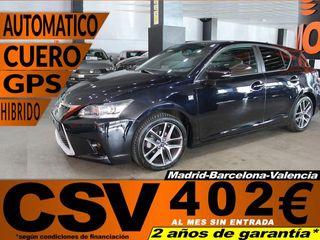 Lexus CT 200h F-Sport + Cuero 100 kW (136 CV)