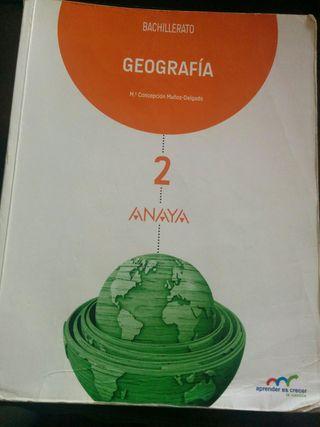 Libro Geografía Ed. Anaya 2° Bachillerato