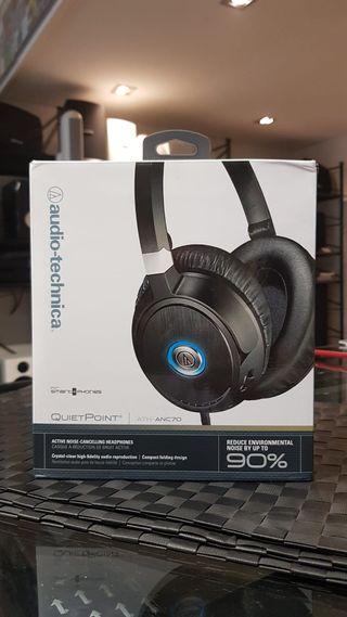 Auriculares Over-Ear cancelación activa de ruido.