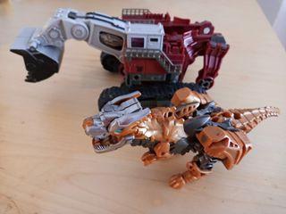 Transformes Grua y Dinosaurio