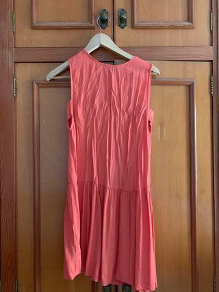 Vestido naranja-coral