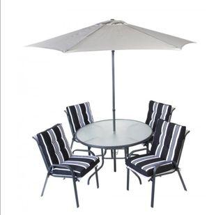 Juego Mesa y 4 sillones Jardín