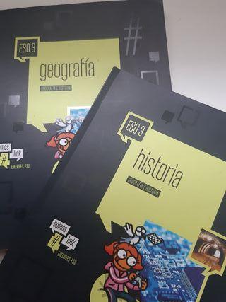libros de texto de geografia e historia 3 de ESO