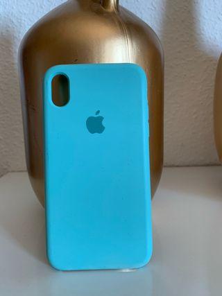 Funda iPhone XR azul celeste