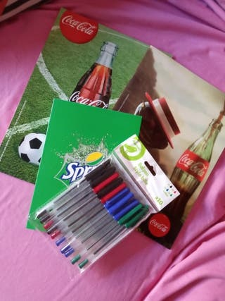 Lote libretas + bolígrafos