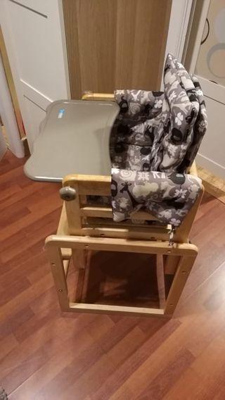 Trona evolutiva convertible en escritorio