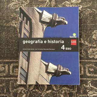 Libro Geografía e Historia 4ESO sm savia