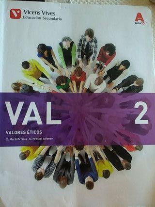 Libro Valores Éticos 2 eso
