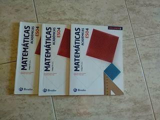 Libro Matemáticas 4 eso, editorial Bruño