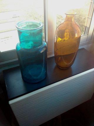 lote 2 jarrones floreros cristal